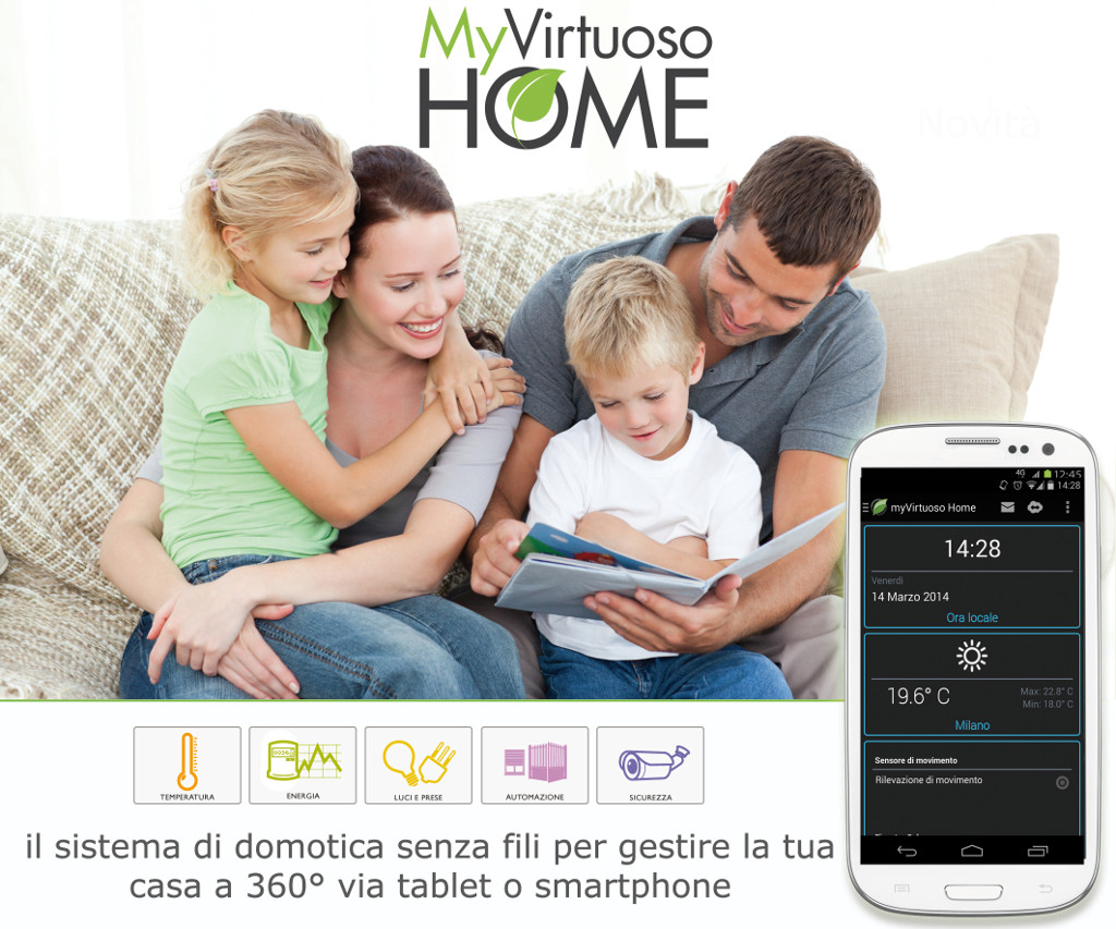 MYVIRTUOSO HOME. Système de domotique wireless.