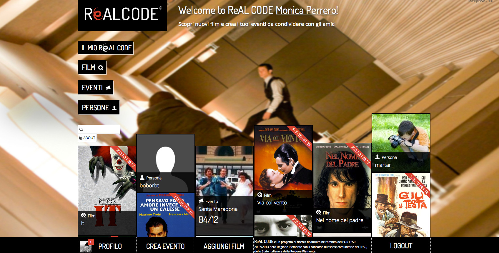 ReALCODE. Movie social recommender system